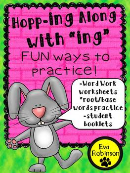 """Spring: Hopping Along with """"ing!""""  Word Work and Practice"""