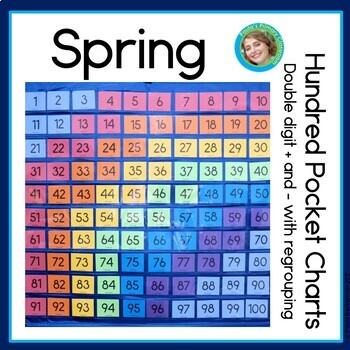 Spring Hundreds Pocket Charts, two digit addition & subtra