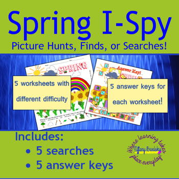 Spring I-Spy Picture Hunt or Search