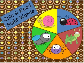 Spring Insect/Bug Spin & Read-Differentiated (Common Core