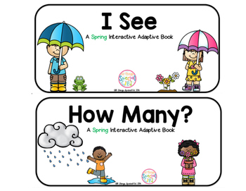 """Spring Interactive Adaptive books - set of 2 (""""I See and """""""
