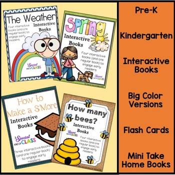Spring Interactive Easy Readers BUNDLE