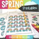 Spring Activities, Spring Writing ELA and Spring Math