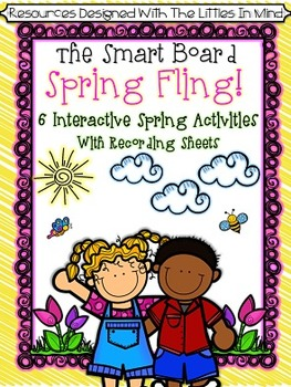 Spring Interactive Smart Board Math & Literacy Games With