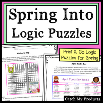 Logic Puzzles: (Spring Edition) for Gifted and Talented Learners