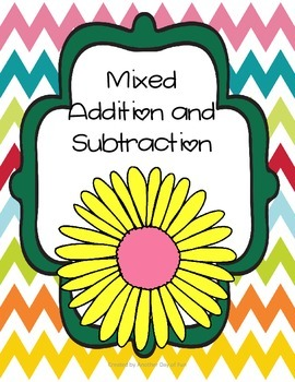 Spring Into Math- assorted subtraction and addition activi