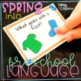 Spring Into Preschool Language Packet