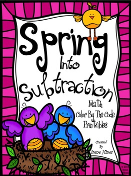 Subtraction: Spring Into Subtraction ~ Color By The Code M