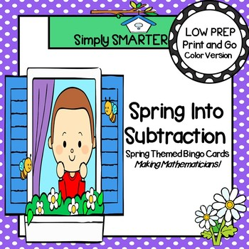 Spring Into Subtraction:  LOW PREP Spring Themed Subtracti