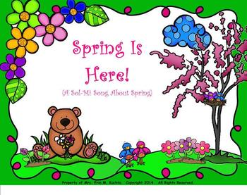 """Spring Is Here! - A """"Sol-Mi"""" Song About Spring - (PDF Edition)"""