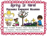 Spring Is Here!  Foldable Readers PLUS Printable!  3 Versi