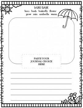 Spring Journal Prompt