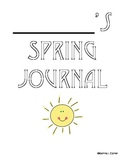 Spring Journals/Writing Prompts