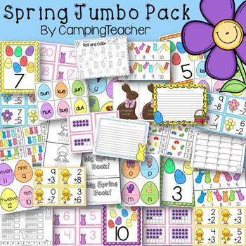 Spring and Easter Jumbo Pack Math and Language Arts Center