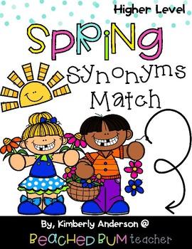 Spring Kiddos: Synonyms Match Center (Higher Level)