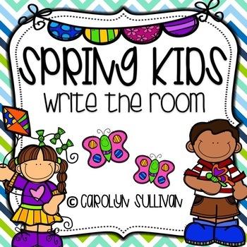 Spring Kids: Write the Room