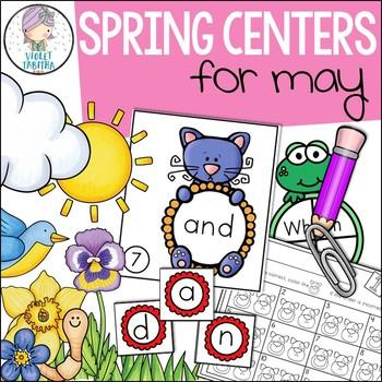 Spring Kindergarten Center Work (Math and Literacy)