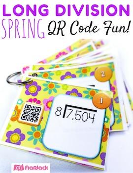 Spring LONG DIVISION QR Code Fun