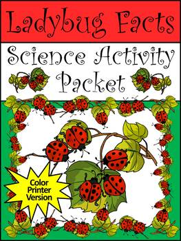 Spring Activities: Ladybug Facts Activity Packet