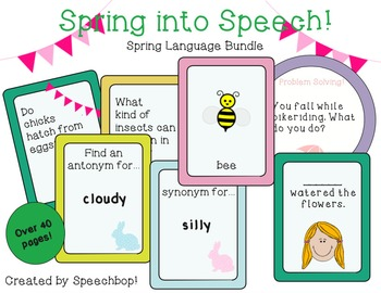 Spring Language Bundle! {common core aligned! Addresses 5