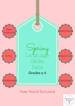 Spring Language Pack Lessons Speech Teletherapy NO PRINT