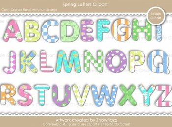 Spring Letters Clipart