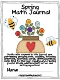 Spring Literacy Based Math Journal graphs time patterns equations