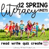 Spring Literacy {Read, Write, Quiz, Create}