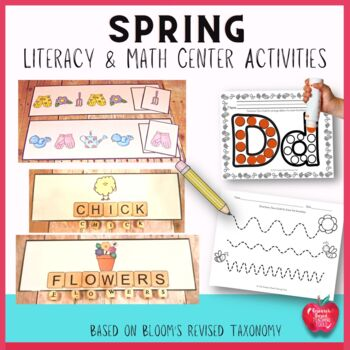 Spring Literacy and Math Center Activities