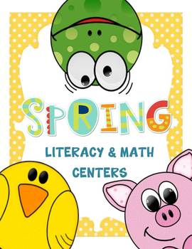 Spring Literacy and Math Centers for First Grade (CCSS)