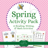Spring Literacy and Math for Kindergarten and First Grade