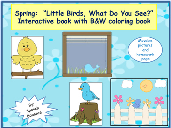 """WHAT Q's;  """"Little Birds, What Do You See?"""" Interactive bo"""