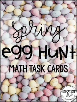 Spring MATH Task Cards Activity