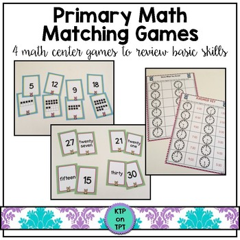 Spring Matching Games- 4 fun skill review games!
