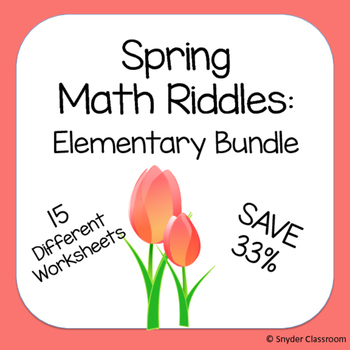 Spring Math Riddles: Elementary Bundle