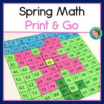 Spring Math Bundle For First Grade FREEBIE!