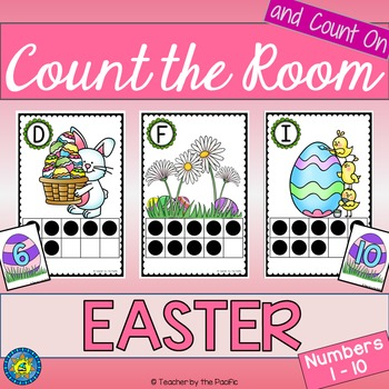 Spring Math Center: Count the Room 1 - 10 {EASTER}