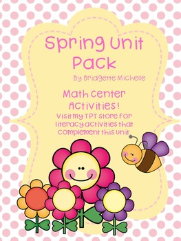 Spring Math Center and Small Group Activities