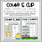 Spring Math Clip Cards
