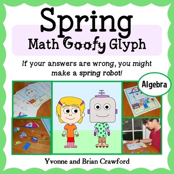 Spring Math Goofy Glyph (Algebra Common Core)
