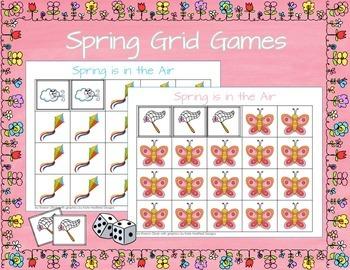 Spring Math Grid Games