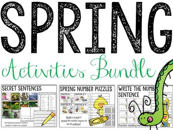 Spring Math & Literacy Activity Bundle