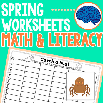 Spring Math & Literacy Worksheets Grade 1 Common Core Aligned