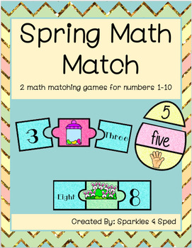 Spring Math Match Freebie