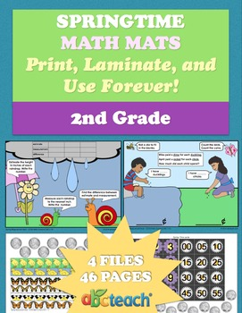 Spring Math Mats for 2nd Grade Common Core