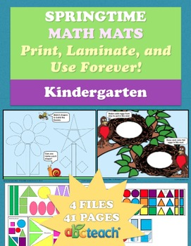 Spring Math Mats for Kindergarten - Grade Common Core
