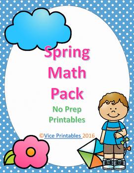 Spring Math Pack No Prep Printables