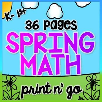 Spring Math for K & 1 {Number Sense, Place Value, Adding/S