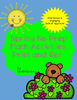 Spring Math Printables ~ Quick and Easy! CCSS