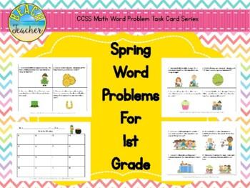 Spring (Mar.-May) Word Problems for 1st Grade Bundled (TAS